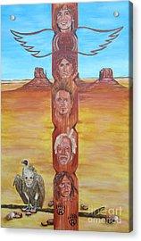 The Native Rockband Acrylic Print by Jeepee Aero
