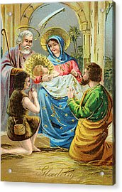 The Nativity Acrylic Print by Bill Cannon