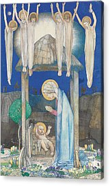 The Nativity Acrylic Print by Edward Reginald Frampton