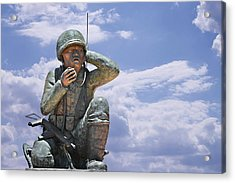 The Navajo Code Talkers Acrylic Print by Christine Till