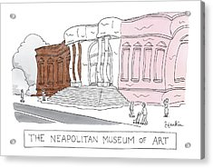 The Neapolitan Museum Of Art -- A Museum That Acrylic Print by Charlie Hankin