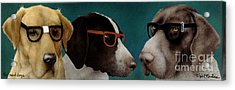 The Nerd Dogs... Acrylic Print by Will Bullas