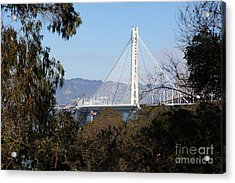 The New And The Old Bay Bridge San Francisco Oakland California 5d25398 Acrylic Print by Wingsdomain Art and Photography