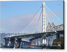 The New San Francisco Oakland Bay Bridge 7d25464 Acrylic Print by Wingsdomain Art and Photography