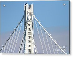 The New San Francisco Oakland Bay Bridge 7d25481 Acrylic Print by Wingsdomain Art and Photography