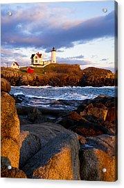 The Nubble Lighthouse Acrylic Print by Steven Ralser