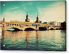 The Oberbaum Bridge In Berlin Germany Acrylic Print by Michal Bednarek