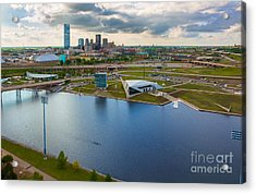 The Oklahoma River Acrylic Print by Cooper Ross