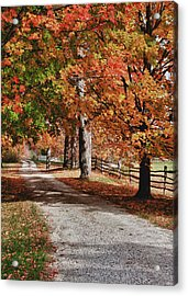The Old Back Road Acrylic Print by Jeff Folger