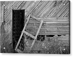 The Old Barn Acrylic Print by Mary Ely