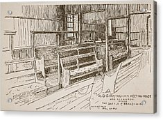 The Old Birmingham Meeting House, 1893 Acrylic Print by Walter Price