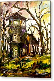The Old Church Acrylic Print by Michelle Dommer