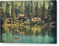 The Old Days By The Lake Acrylic Print by Laurie Search