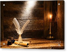The Old Desk Acrylic Print by Olivier Le Queinec