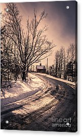 The Old Farm Down The Road Acrylic Print by Edward Fielding