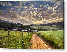 The Old Farm Lane Acrylic Print by Debra and Dave Vanderlaan