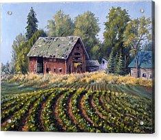 The Old Farmstead Acrylic Print by Rick Hansen