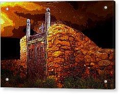 The Old Gates Of Galisteo Acrylic Print by David Lee Thompson
