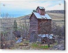 The Old Grain Storage Acrylic Print by Steve McKinzie