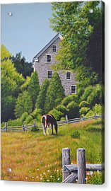 The Old Grist Mill Acrylic Print by Dave Hasler