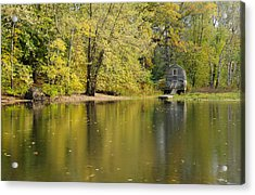 The Old Manse Boathouse Acrylic Print by Luke Moore