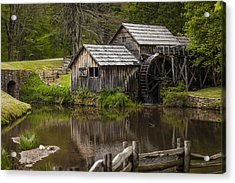 The Old Mill After The Rain Acrylic Print by Amber Kresge