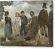 The Old Musician Acrylic Print by Edouard Manet