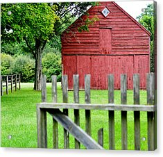 The Old Red Barn Acrylic Print by Laura Fasulo