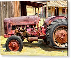 The Old Tractor Acrylic Print by Michael Pickett