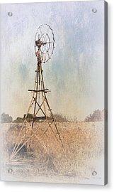 The Old Windmill Acrylic Print by Elaine Teague