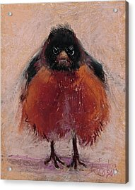 The Original Angry Bird Acrylic Print by Billie Colson