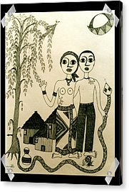 The Original Sin Acrylic Print by Madalena Lobao-Tello