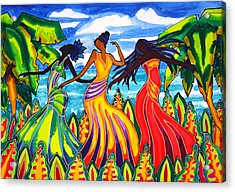 The Other Three Graces Grace Castillo Grace Gonzalez And Grace Lopez Acrylic Print by Lee Vanderwalker