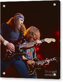 The Outlaws - Hughie Thomasson And Billy Jones Acrylic Print by Daniel Larsen