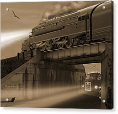The Overpass 2 Acrylic Print by Mike McGlothlen
