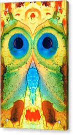 The Owl - Abstract Bird Art By Sharon Cummings Acrylic Print by Sharon Cummings