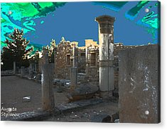 The Palaestra -temple Of Apollo Acrylic Print by Augusta Stylianou