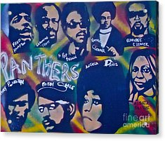 The Panthers Acrylic Print by Tony B Conscious