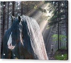The Parting Of Two Earthly Souls Acrylic Print by Terry Kirkland Cook
