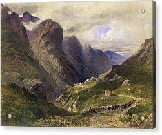 The Pass Of Glencoe, 1852 Acrylic Print by William Bennett