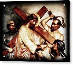 The Passion Of Christ Vii Acrylic Print by Aurelio Zucco
