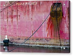 The Peggy Palmer Barge Acrylic Print by Carolyn Marshall