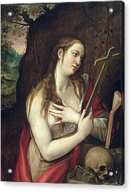 The Penitent Magdalene Acrylic Print by Luis de Carbajal