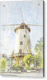 The Penny Royal Windmill Acrylic Print by Elaine Teague