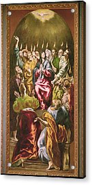 The Pentecost, C.1604-14 Oil On Canvas Acrylic Print by El Greco