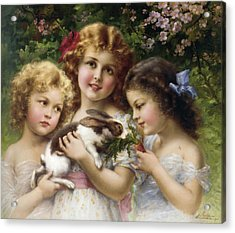 The Pet Rabbit Acrylic Print by Emile Vernon