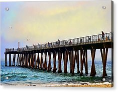 The Pier Acrylic Print by Camille Lopez