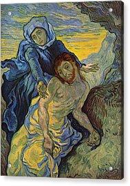 The Pieta After Delacroix 1889 Acrylic Print by Vincent Van Gogh