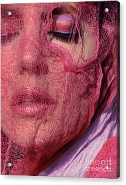 The Pink Scarf Acrylic Print by Jeff Breiman