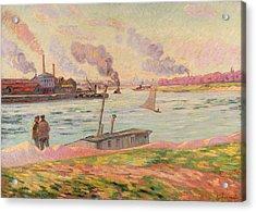The Pointe D'ivry Acrylic Print by Jean Baptiste Armand Guillaumin